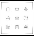 business icons set outlined linear icons vector image