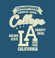california sport t-shirt typography design vector image vector image