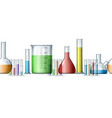 chemical research backdrop pattern vector image vector image