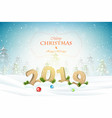 christmas and new year typography greetings on vector image vector image