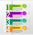 color modern infographic vector image vector image