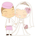 cute couple islamic vector image vector image