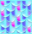 cyan mermaid seamless pattern fish skin texture vector image vector image