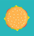 delicious burger icon isolated vector image