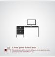desk icon simple vector image vector image