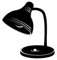 desk lamp silhouette vector image
