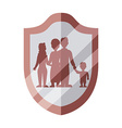family insurance design vector image vector image