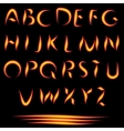Fire Letters Burning Font Glowing Alphabet vector image vector image