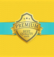 golden quality premium choice gold label on banner vector image vector image
