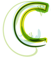 Green letter C vector image vector image