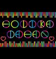 holika dahan festival lettering in color vector image vector image