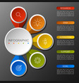 infographics circle design with 5 options vector image vector image