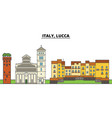 italy lucca city skyline architecture vector image vector image