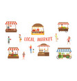 local market food festival sellers and customers vector image