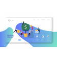 making money landing page business investment vector image vector image