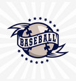 modern professional emblem for baseball game vector image vector image
