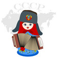 nesting doll with an accordion vector image vector image