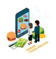 order food online isometric vector image