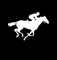 Racing horse and jockey silhouette vector image vector image