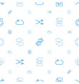 repeat icons pattern seamless white background vector image vector image