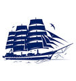 Sail ship vector image