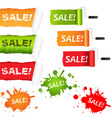 set sale paper vector image