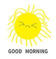 sleepy sun shining icon set good morning kawaii vector image