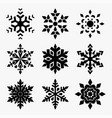 snowflakes icon set vector image vector image