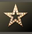 Star retro light banner
