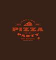 stock template pizzeria label vector image
