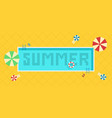 summer time background pool with blue water and vector image vector image