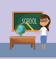 teacher woman and creative education to learn vector image vector image