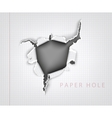torn paper hole in the notebook sheet i vector image vector image