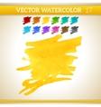 Warm Sunshine Yellow Watercolor Artistic Splash vector image vector image