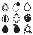 Water Drop Icons Set - vector image