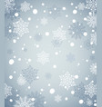 winter holiday background with snow new year vector image vector image