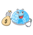 with money bag character cartoon ice house in vector image vector image