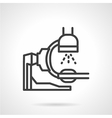 X-ray equipment icon line style vector image