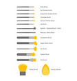 cartoon cosmetic makeup brush color icons set vector image