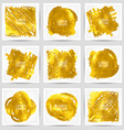 Set of gold banners 10 eps vector image