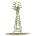 Woodcut Windmill vector image