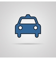 Taxi icon with shadow EPS10 vector image