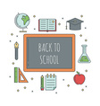 School banners templates vector image