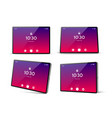 3d tablet pc mockup with bright screen vector image vector image