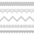 Abstract border contour vector image vector image