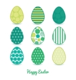 abstract green circles set of nine colorful vector image