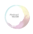 Abstract round banner colorful lines with vector image vector image