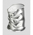 aluminum can in bad condition vector image vector image