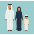arabic family vector image
