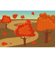 Autumn landscape background vector image